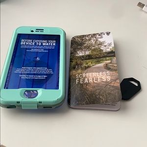 Blue Lifeproof iPhone 8 case